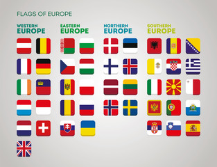 Flags of European Country