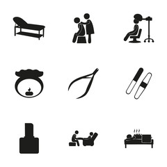 Vector spa icon set