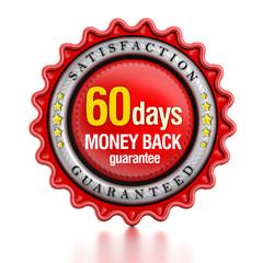 60 days money back guarantee label