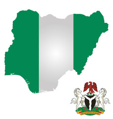 Federal Republic of Nigeria map