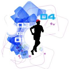 Runner. Sport illustration. Vector