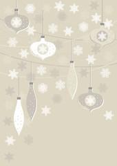 bombki i gwiazdki beżowe zimowe pionowe tło