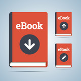 eBook ilustration in download, upload and edit modifications. poster