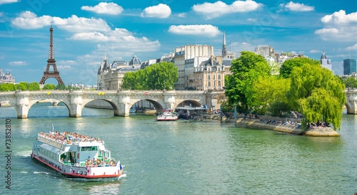 Papiers peints Ville sur l eau Berges de la Seine à Paris, France