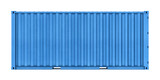 Metal container isolated on white background - 73853047