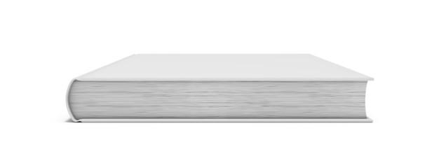 White blank book on white background