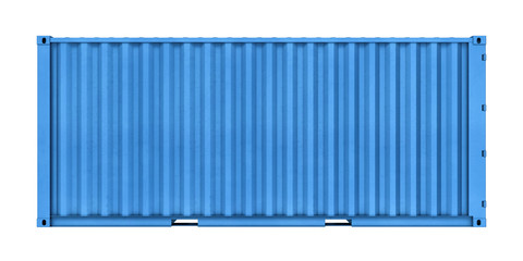 Metal container isolated on white background
