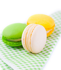 Colourful french macaroons.