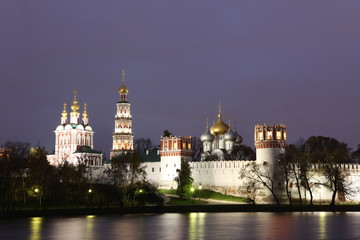 Russian churches in Novodevichy Convent monastery, Moscow