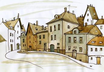 Traditional urban European landscape