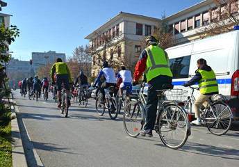 bikers in ioannina city