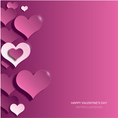 Modern bright valentine's day background