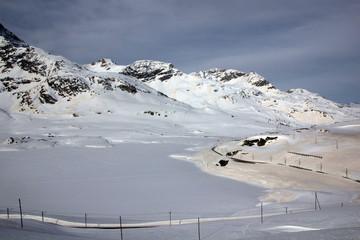 Lago Bianco verschneit