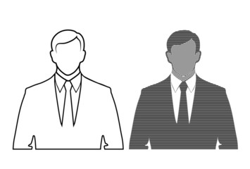 silhouette of a businessman