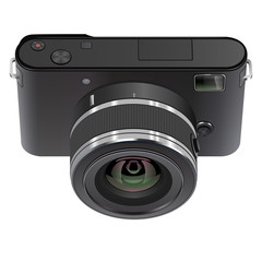 Abstract digital photo camera. Vector EPS10.