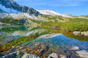 Lake in Gasienicowa valley in autumn, Tatra Mountains, Poland