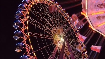 Riesenrad und Karusell