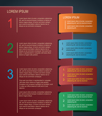 Abstract paper infographics design