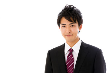 asian businessman isolated on white background