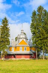 Wooden church in Gladyszow village, Beskid Niski Mountains