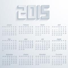 Vector modern 2015 calendar