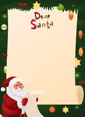 christmas wish list design blank