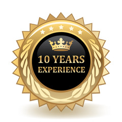 Ten Years Experience Badge