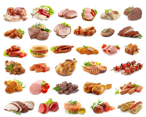 various kinds of meat products