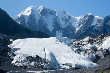 Maashey-Bash Peak and Maashey Glacier in Altai Mountains, Siberi