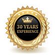 Leinwandbild Motiv Thirty Years Experience Badge