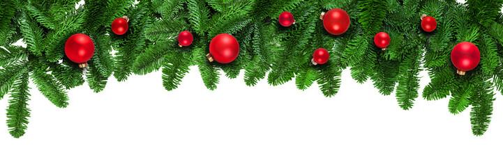 Weihnachtlicher Hintergrund auf Weiß