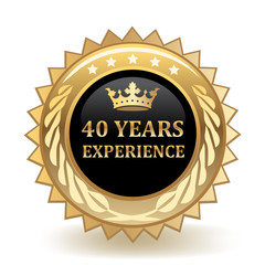 Forty Years Experience Badge