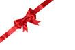 Schleife auf Karte oder Brief für Geschenke an Weihnachten oder