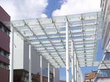 glass wind canopy