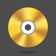 Vector modern disc on gray background