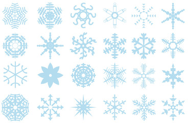24 abstract snowflakes collection