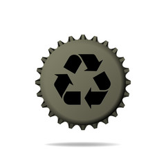 Bottle Cap with Recycle sign