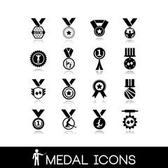 Winner, medal icons set4