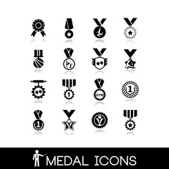 Winner, medal icons set5