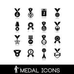 Winner, medal icons set6