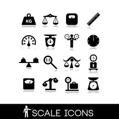 Scales, balance - Icons set 1