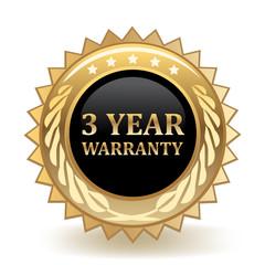 Three Year Warranty Badge