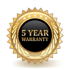 Five Year Warranty Badge