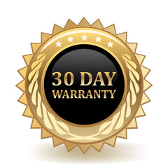 Thirty Day Warranty Badge
