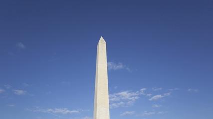 Time lapse zoom out Washington Memorial in Washington, DC, USA