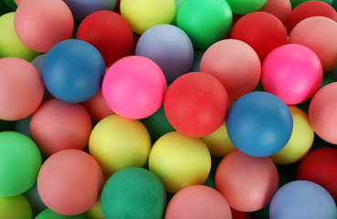 Huge pile of colorful balls