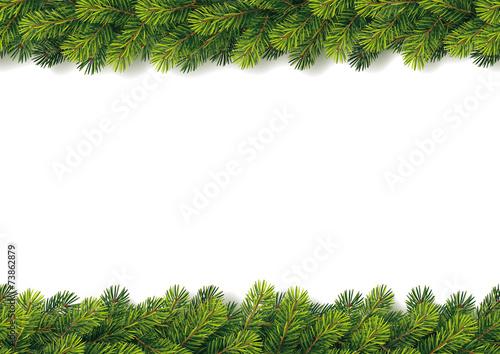 Detailed Seamless Christmas Garland - 73862879