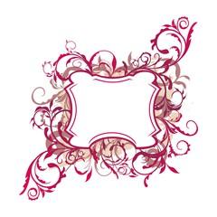 Illustration the floral decor element for design and border