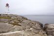 Historical Peggy Cove lighthouse, Newfoundland