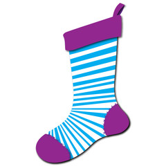 Teal Striped Stocking